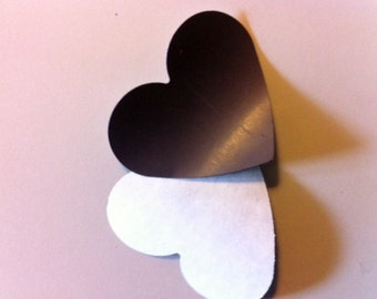 "1""- 12"" Adhesive Heart Magnets"