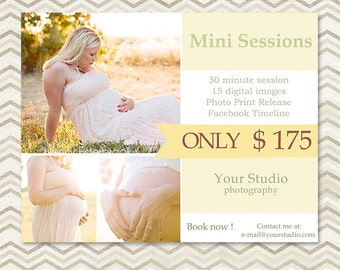 Mini Session - Photography Marketing Template 004 - Mothers Day Mini Session - C016, INSTANT DOWNLOAD