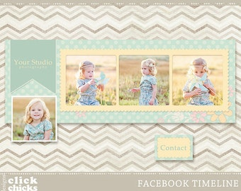 INSTANT DOWNLOAD - Facebook Timeline Cover for Personal or Business Page - Blooms - C005.