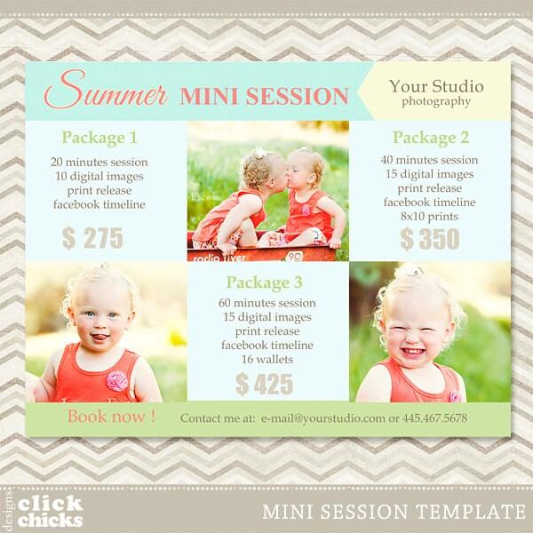 Mini session photography marketing template summer mini for Free mini session templates for photography