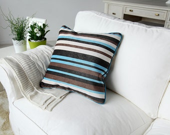 18 x 18 Inches Blue Stripes Comfortable Pillow Cushion Covers