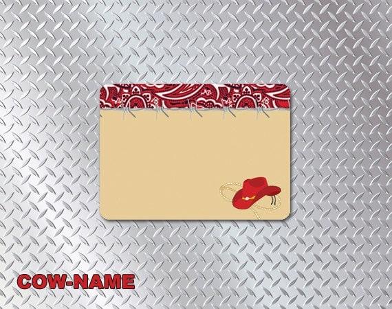 Items similar to Cowboy DIY Printable Party Name Tags 3 ...