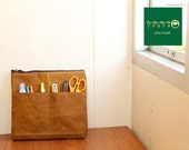 Sale 25%// spice waxed canvas and brown // Messenger // cluth // Hand bag // Canvas bag // hip bag // tote - Wagashi
