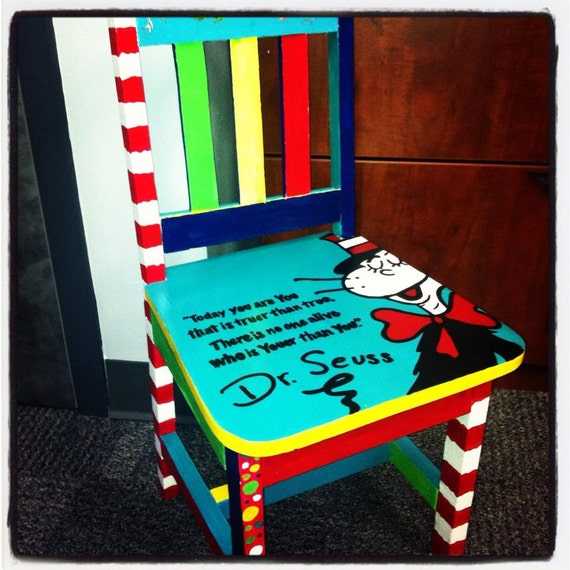 Items Similar To Children S Dr Seuss Chair On Etsy