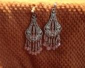 Chandelier Earrings Pink & Silver earrings