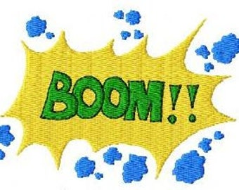 Embroidery pattern - Boom
