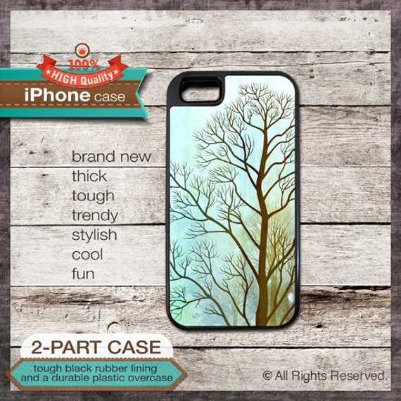 iPhone 6, 6+, 5 5S, 5C, 4 4S, Samsung Galaxy S3, S4 - Watercolor Tree Art - Design Cover 63