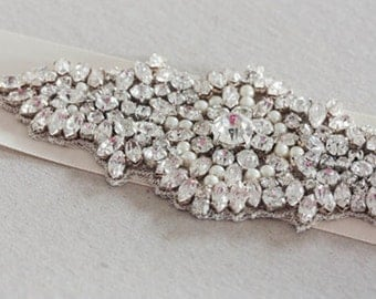 Wedding Crystal Sash-  Mini  (Made to order)
