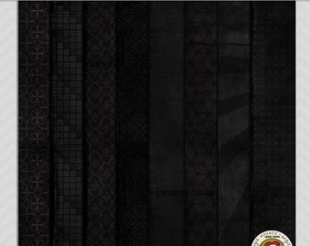 Back to Black Digital Paper Scrapbooking Set