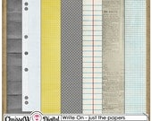 Write On - Papers for Digital Scrapbooking