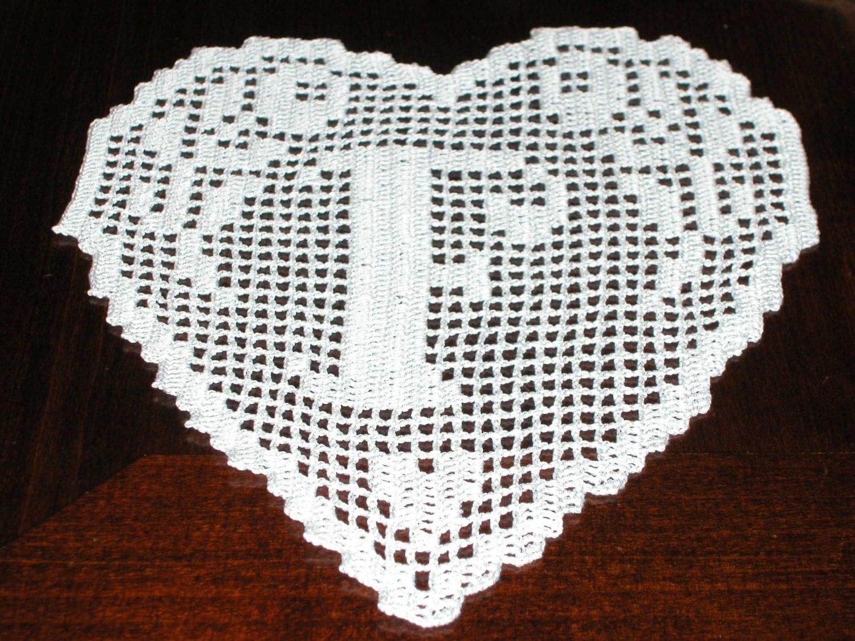 Bien-aimé PATTERN crochet filet schema lettera F MONOGRAMMA SY92