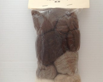 Natural Color Wool - Needle Felting