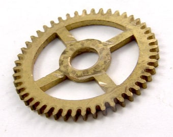 "Vintage Brass Clock Gear Sprocket 1"" For Steampunk Projects 4609"