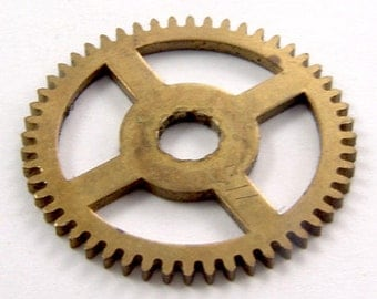 "Vintage Brass Clock Gear Sprocket 1.1"" For Steampunk Projects 4617"