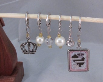 Shiny Things Stitch Marker Set