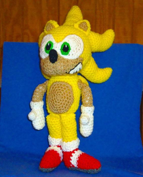 Super Sonic pattern - crochet animal doll pattern - geekery crochet hedgehog ...