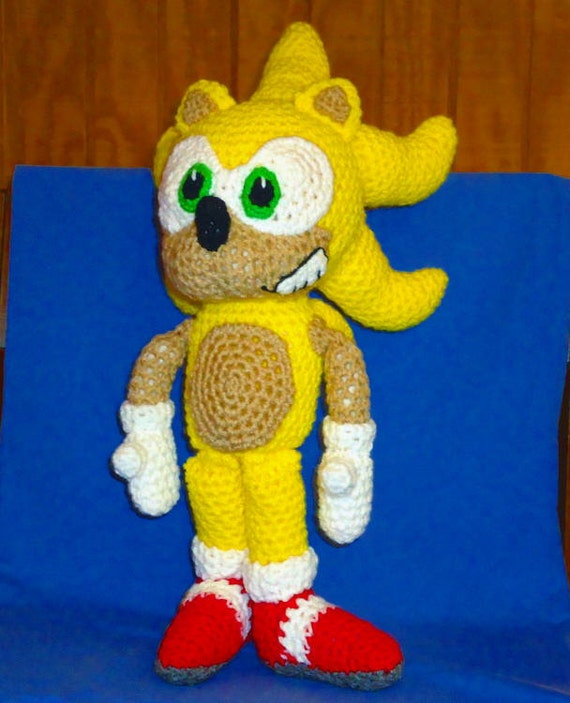 Knitting Pattern Sonic Hedgehog : Super Sonic pattern - crochet animal doll pattern ...