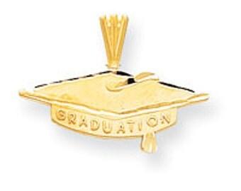 Diamond Cut Graduation Cap Charm (JC-952)