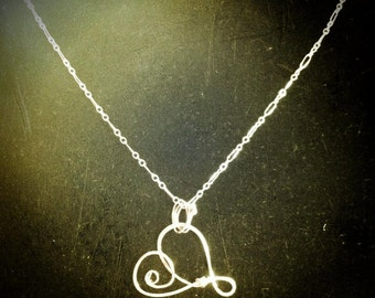 Brave Heart Artisan Sterling Silver Pendant from Sandra Eileen Designs - Personalized Jewelry