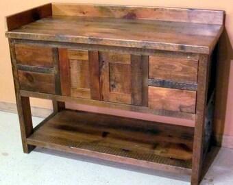 Minnesota  Reclaimed Wood Bathroom  Vanity