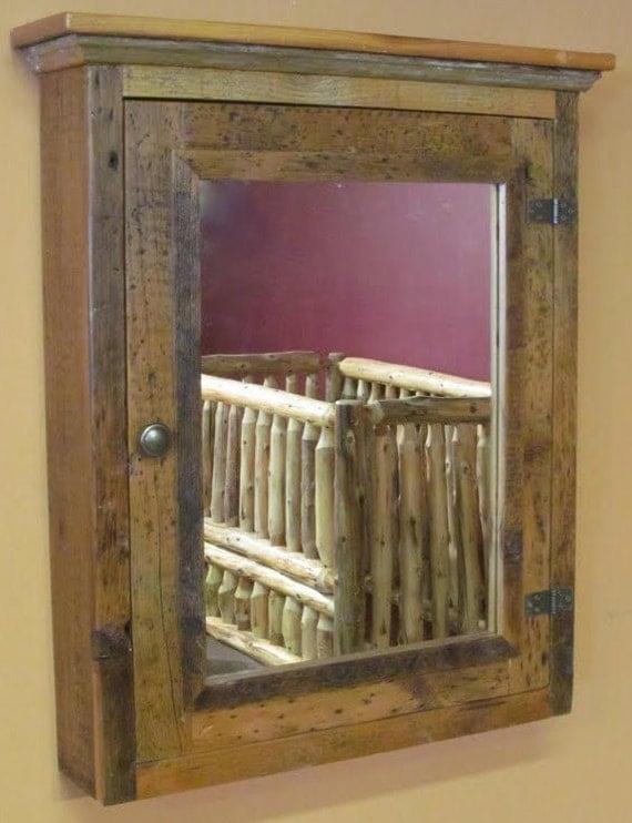 barnwood medicine cabinet. Black Bedroom Furniture Sets. Home Design Ideas