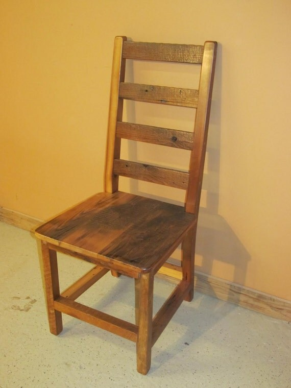 Barnwood dining chair barnwood ladder back dining chair - Ladder back dining room chairs ...