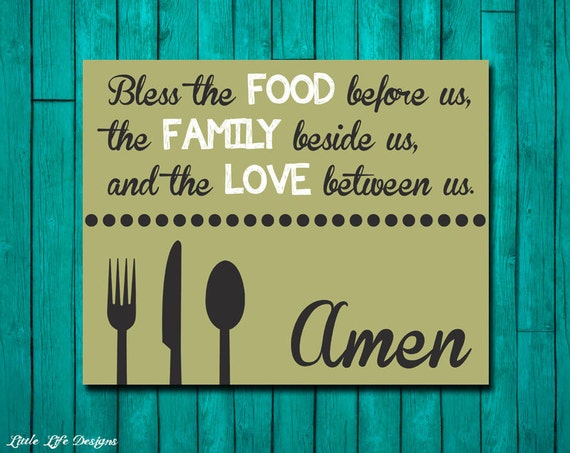 Kitchen Blessing Wall Decor