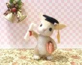 Needle felt . Needle felting rabbit . Needle felted rabbit . Graduation gift . Handmade rabbit. Rabbit . Great gift . Rabbit miniature