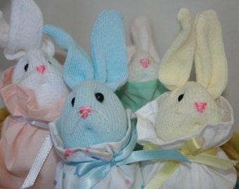 Baby Sock Bunny in a bag