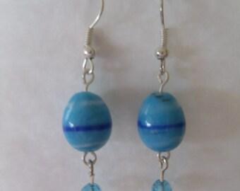 Blue Egg earrings