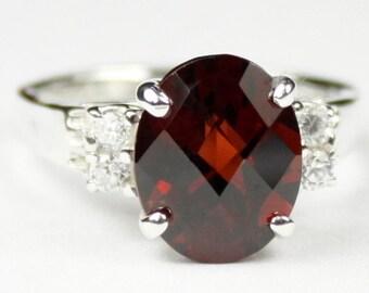 Mozambique Garnet, 925 Sterling Silver Ring, SR123