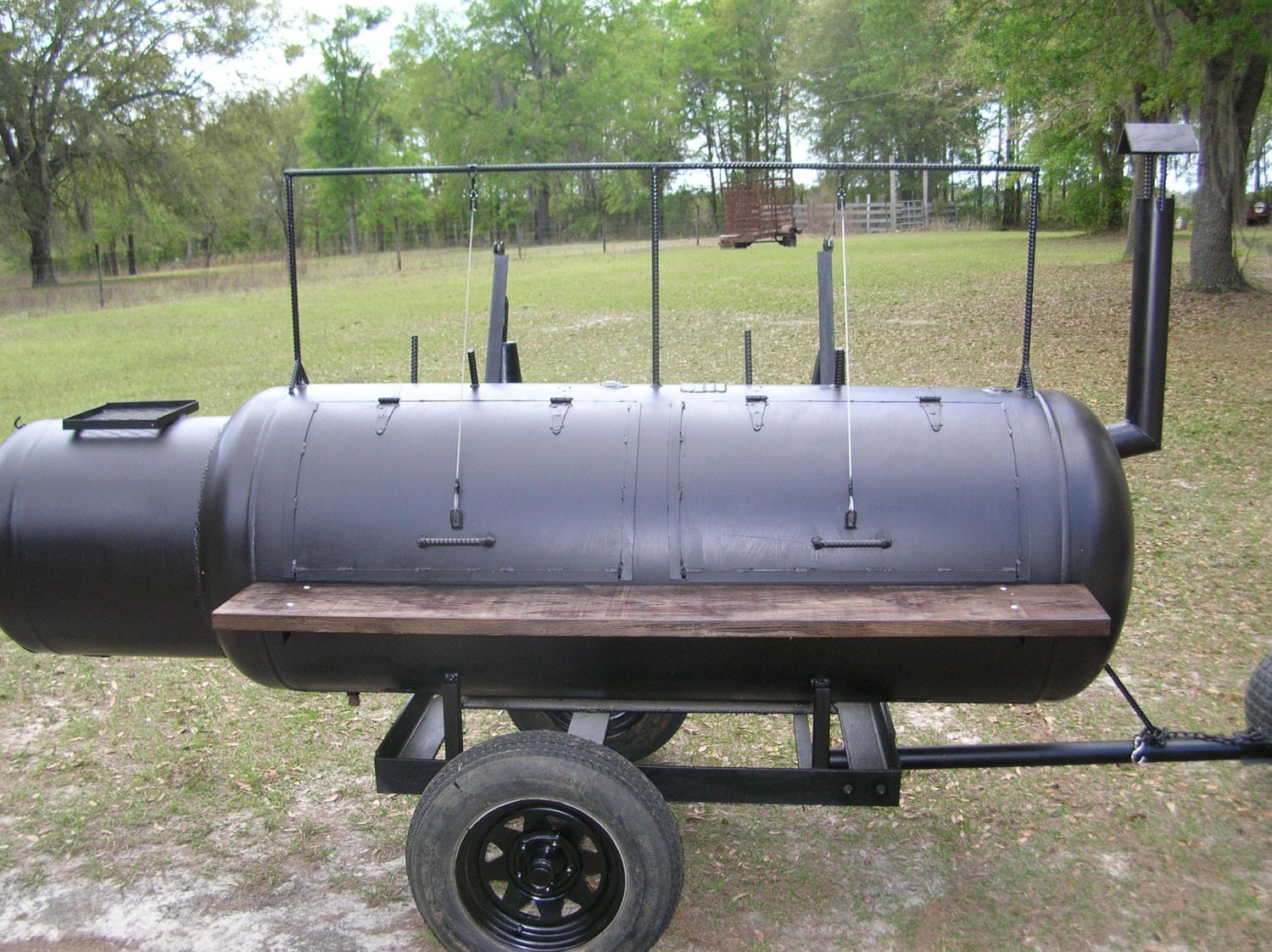 custom built barbeque bbq pit smoker grill on trailer new for. Black Bedroom Furniture Sets. Home Design Ideas