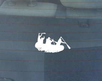 White Water Rafting Window Sticker Decal