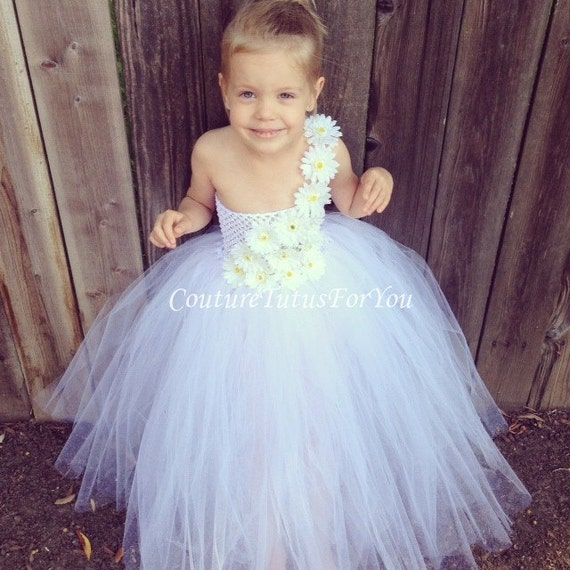 Flower Girl White Tulle flower girl Dress by ...