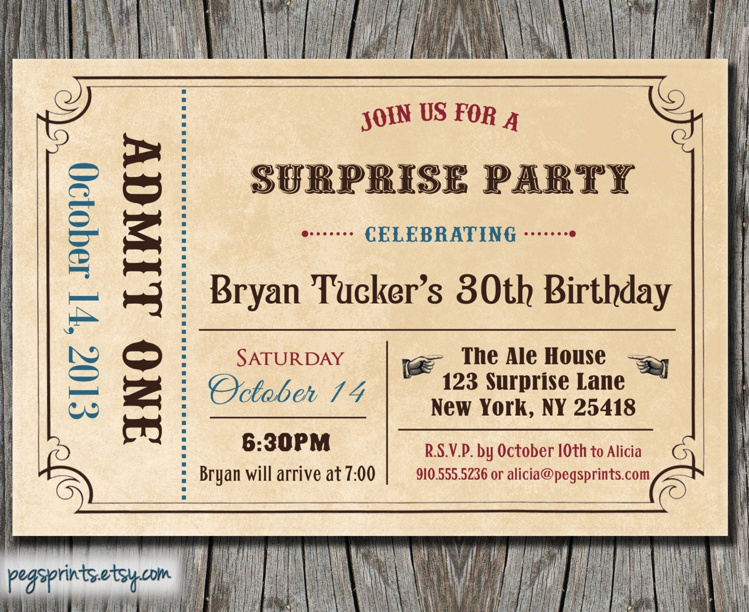 admit one ticket invitation template .