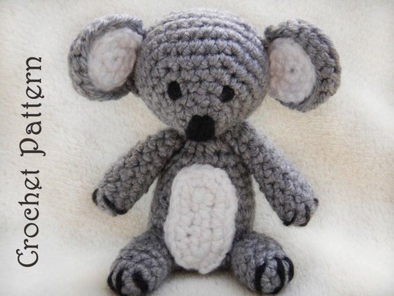 Crochet Pattern Koala Bear : Items similar to PDF Crochet Pattern for Small Amigurumi ...