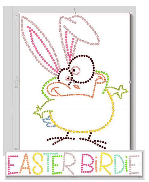 Pre cut sticky flock rhinestone template easter by for Sticky flock pre cut templates