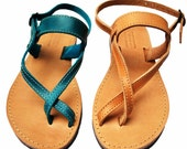 Toe-wrapper Leather Sandals - NikolaSandals