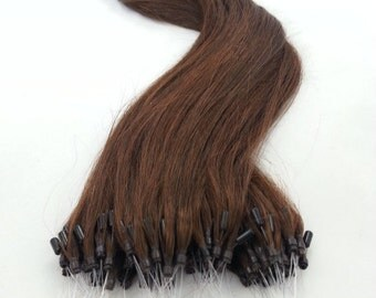 18inches 100grs,100s,Micro Loop(Rings) Human Hair Extensions 4 Dark Brown