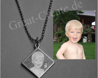 Personalized Necklace Photo Engraved, Custom Photo Necklace Jewelry, Photo Pendant, Top Quality, GI Tags, Custom Made, Engraving, Dog Tags.