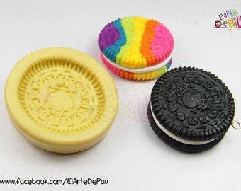 MINI Oreo Cookie Flexible silicone mold (28mm) / MINI OREO cookie flexible mold