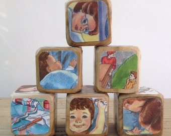 Love You Forever // Childrens Book Blocks // Natural Wood Toy