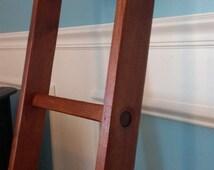 """Handmade Primitive Alder Wood Ladder 60"""" 5 Rungs 5 Ft Vintage Decor"""