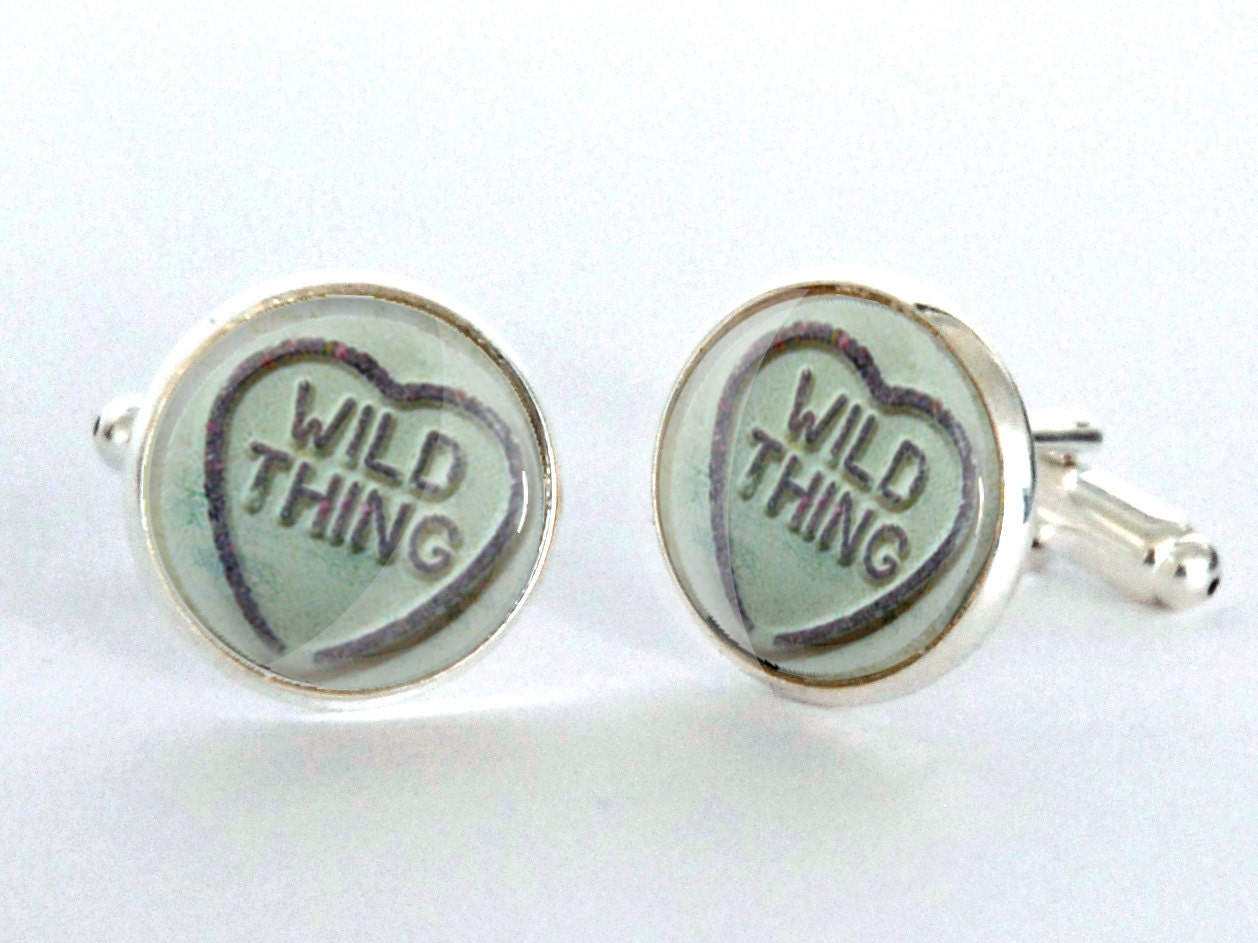 Silver Wedding Anniversary Gifts For Him: Wild Thing Silver Plated Cufflinks Anniversary Gift For Him
