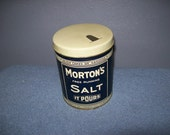 Vintage Mortons Salt Collectors Tin It Rains It Pours