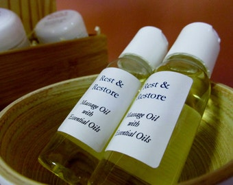 Rest & Restore Massage Oil - Essential Oils for Tension and Pain