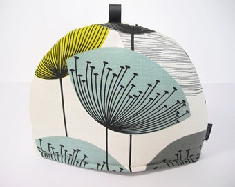 Sanderson Dandelion Clocks fabric Tea Cosy - Chaffinch