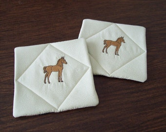 Pot Holders for the western decor, kitchen hot pads, pot holder,kitchen hot pad, oven mitt,kitchen decor,emboridered hot pad