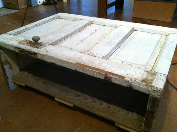Items Similar To Antique Door Coffee Table On Etsy