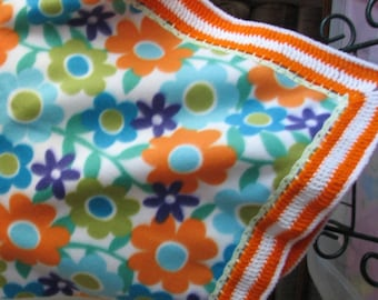 Flowered Fleece Blanket